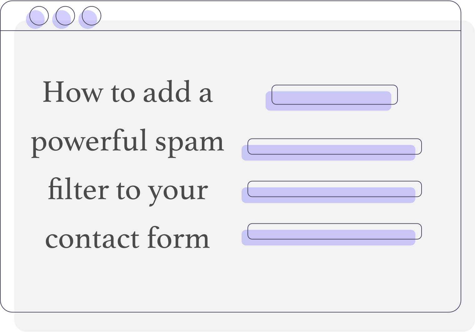 A contact form illustration